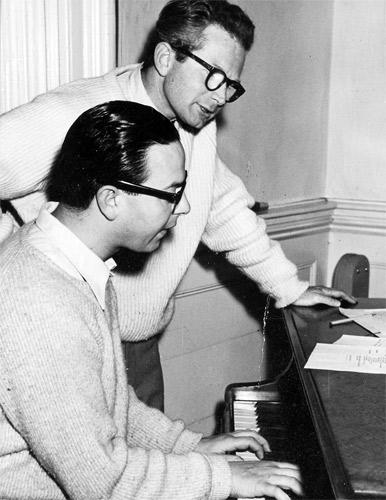Ornadel at the piano with lyricist David Croft, who later co-wrote 'Dad's Army'