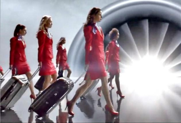 Virgin Atlantic 'air hostesses' in one of the carrier's advertisements