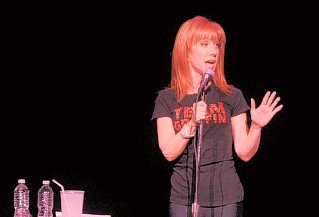 Mildly entertaining at best: Kathy Griffin