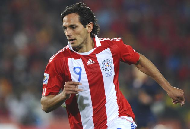 Roque Santa Cruz is just one goal short of Paraguay's all-time leading scorer José Cardozo