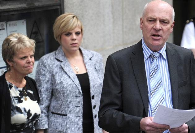 Milly Dowler's family outside the Old Bailey yesterday