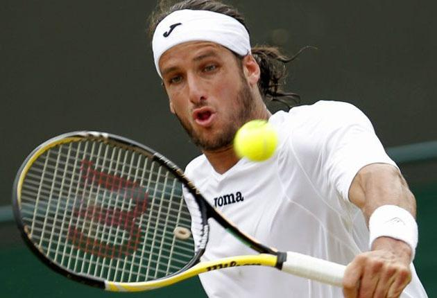Feliciano Deliciano Lopez en route to today's quarter-final date with Andy Murra