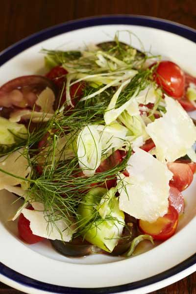 Tomato, fennel and Parmesan salad