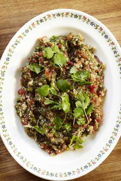 Armenian tomato and aubergine salad