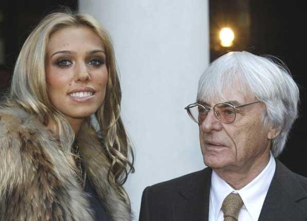Petra Ecclestone with her father, Bernie, and the Georgian lodge