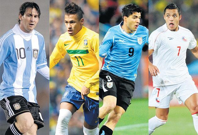 Lionel Messi, Neymar, Luis Suarez, Alexis Sanchez