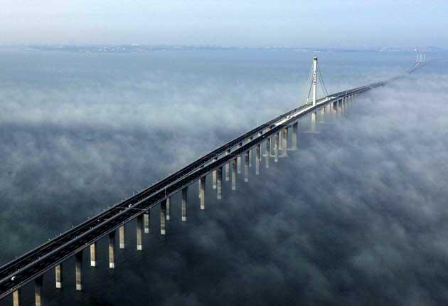 At 26.4 miles, the Qingdao Haiwan Bridge in China is the world's longest sea bridge