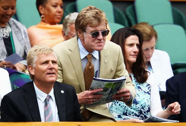 Robert Redford savours a tight situation from the Royal Box this week