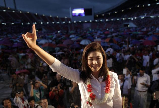 Yingluck Shinawatra, sister of the ousted premier Thaksin