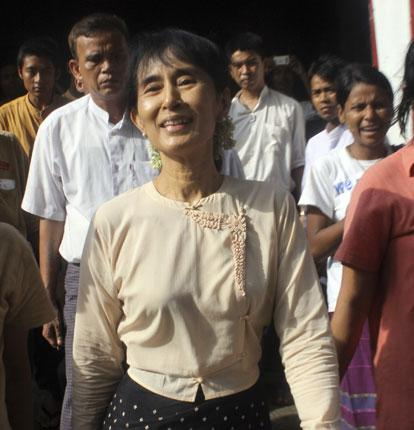 Aung San Suu Kyi last week, her Reith lectures were smuggled out of Burma