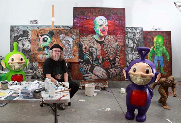 American Graffiti: Ron English in his studio; his work now sells for up to £135,000