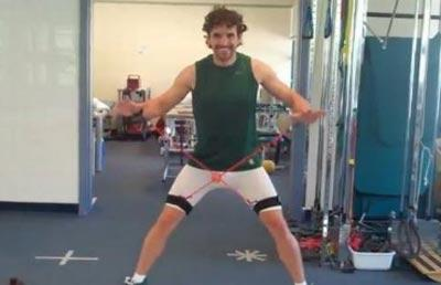Hargreaves has released a video showing him getting fit