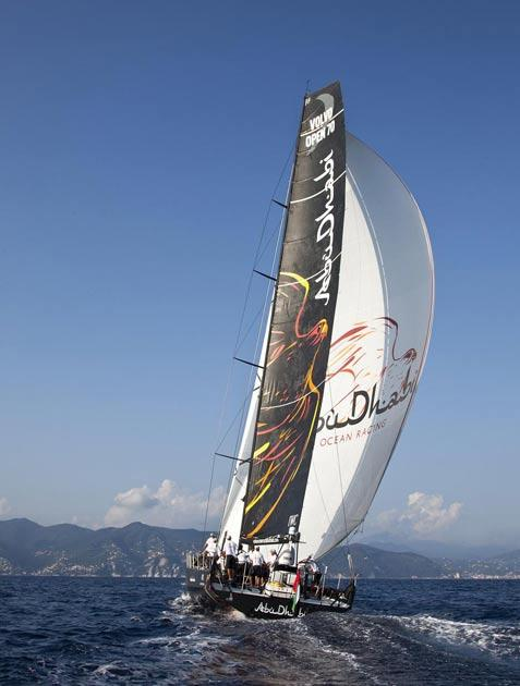 The new Abu Dhabi yacht takes to the water