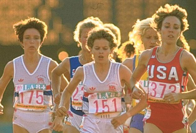 Zola Budd famously collided with Mary Decker at the LA Olympics