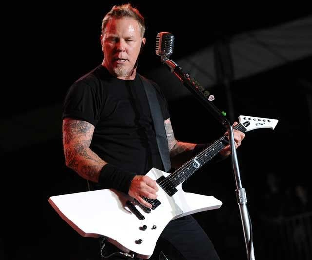 James Hetfield of Metallica performing at the Sonisphere festival