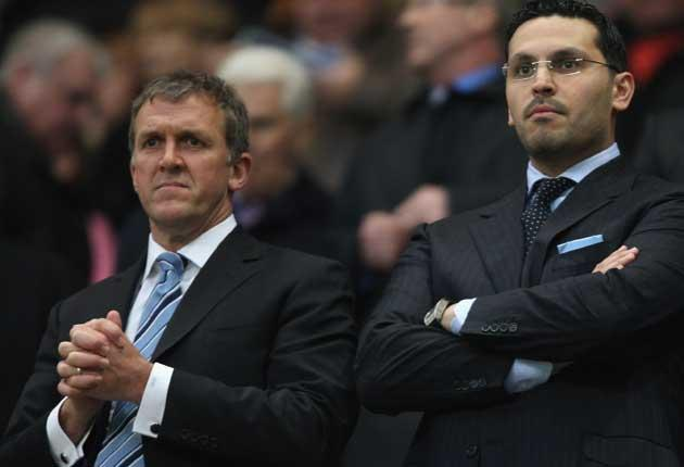 City chief executive Garry Cook and owner Sheikh Mansour