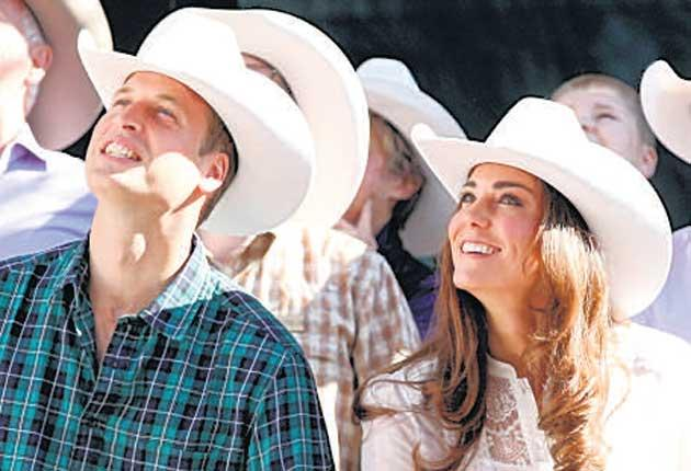 Ten gallon hats and cowboy belt clasps featured in the royal tour of Canada