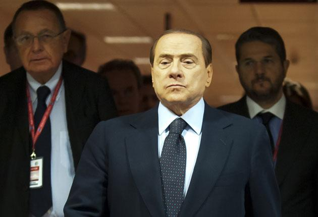 Mr Berlusconi has declared that he will not run again when his term of office ends in 2013