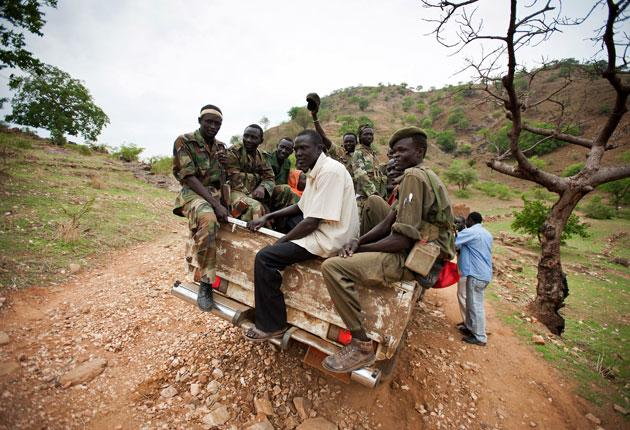 Rebels from the Sudan People's Liberation Army