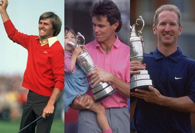 Bill Rogers, Ian Baker-Finch and David Duval - all inheritors of the curse