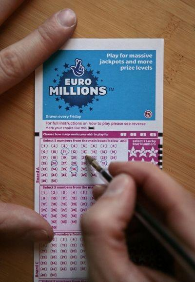 A lottery ticket for the EuroMillions jackpot