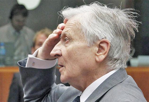 ECB head Jean-Claude Trichet in Brussels