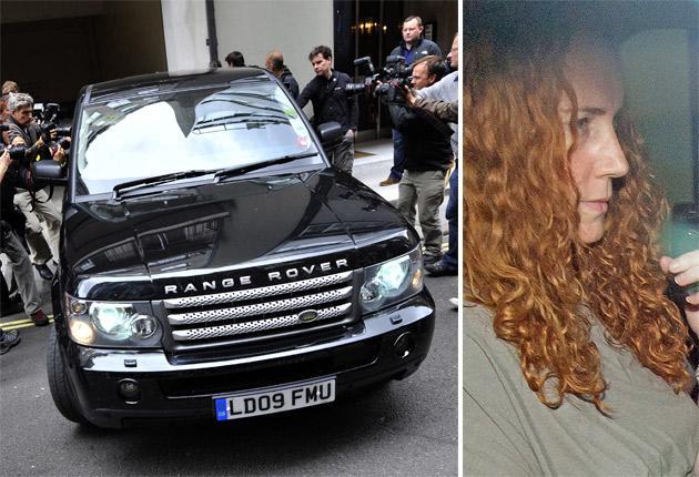 Rebekah Brooks leaves Rupert Murdoch's London flat yesterday