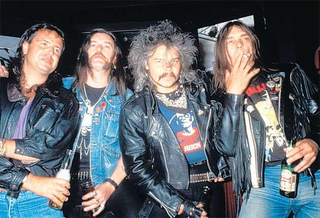 Motörhead in 1994: From left, Phil Campbell, Lemmy, Phil 'Philthy Animal' Taylor and Würzel