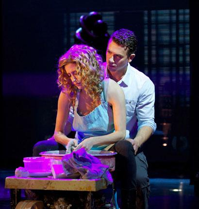 Art of collaboration: Caissie Levy and Richard Fleeshman in 'Ghost'
