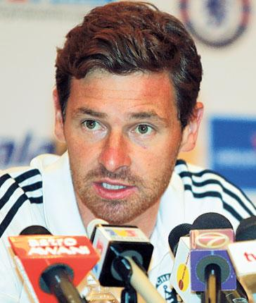 Andre Villas-Boas answers questions during a press conference yesterday