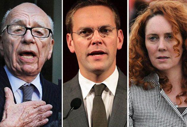 Rupert Murdoch, James Murdoch and Rebekah Brooks are giving evidence at the Commons Home Affairs Committee today