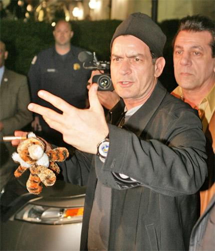 Charlie Sheen in April after his sacking from hit show 'Two and a Half Men'