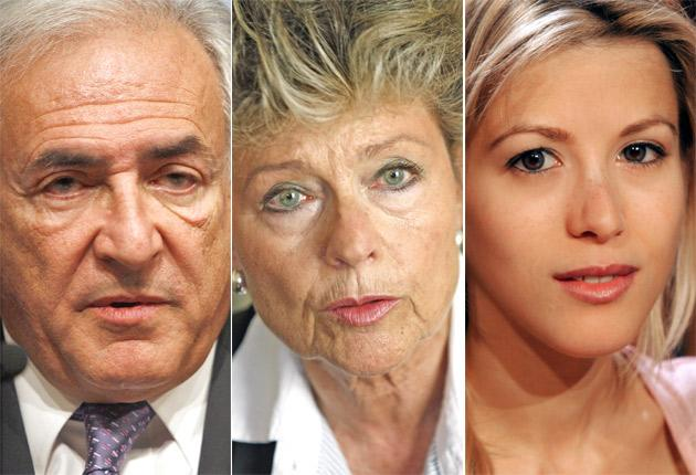 Anne Mansouret, centre, says she had sex with Dominique Strauss-Kahn, left, in 2000. Tristane Banon, right, claims he tried to rape her during an interview in 2003