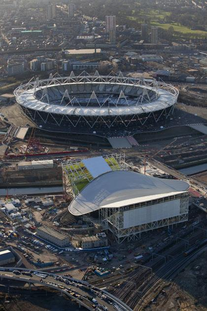 A view of the Olympic site in February this year