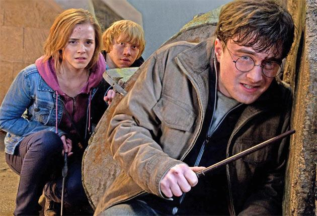 Emma Watson, Rupert Grint and Daniel Radcliffe in 'Harry Potter and the Deathly Hallows: Part 2'