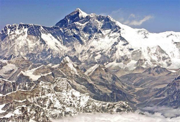 Everest was identified as the highest peak in 1854