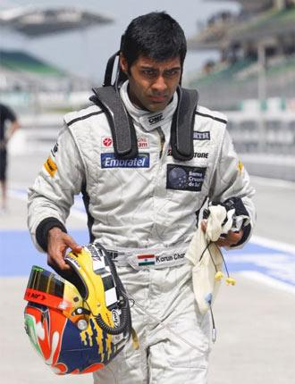 Karun Chandhok raced for strugglers Hispania for the first half of last season