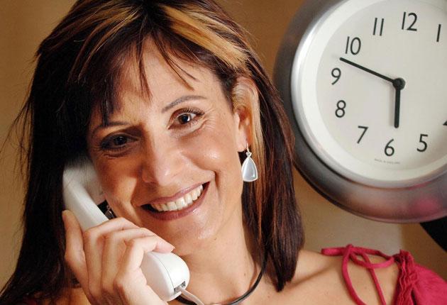 Sarah Mendes da Costa, the current voice of the Speaking Clock