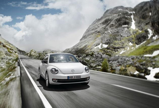 Nascent machismo: The new-look Beetle has a flattened shape and a hint of the Porsche 911