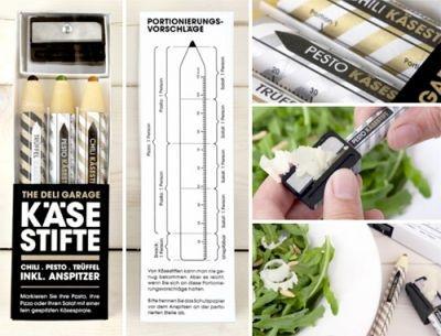 Edible Parmesan Pencil results in shavings of Parmesan cheese.