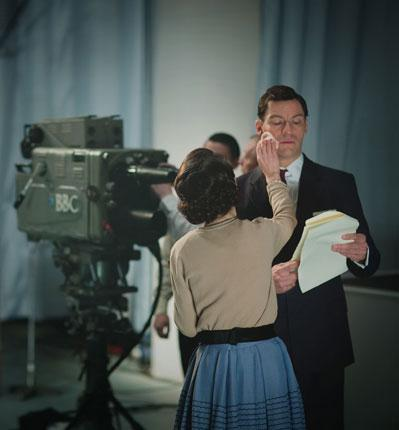In the spotlight: Dominic West stars as suave news presenter Hector Madden in The Hour