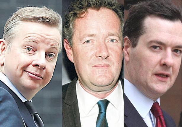 In the spotlight: Michael Gove, Piers Morgan and George Osborne