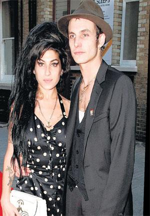 Amy Winehouse with her then husband, Blake Fielder-Civil, in 2007