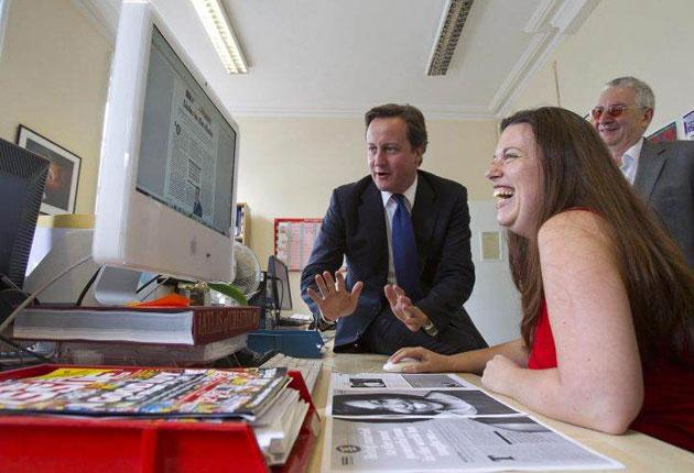 David Cameron takes a hands-on approach to guest-editing the next issue of The Big Issue