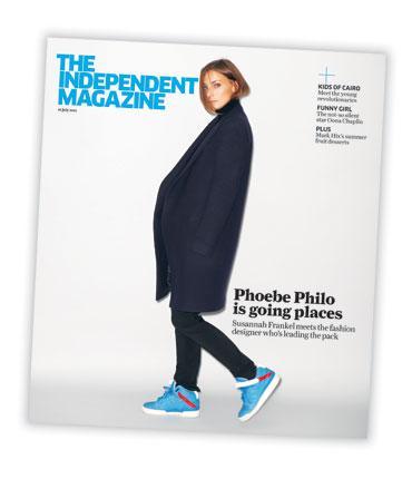 Céline's Phoebe Philo was in the Independent magazine last Saturday.