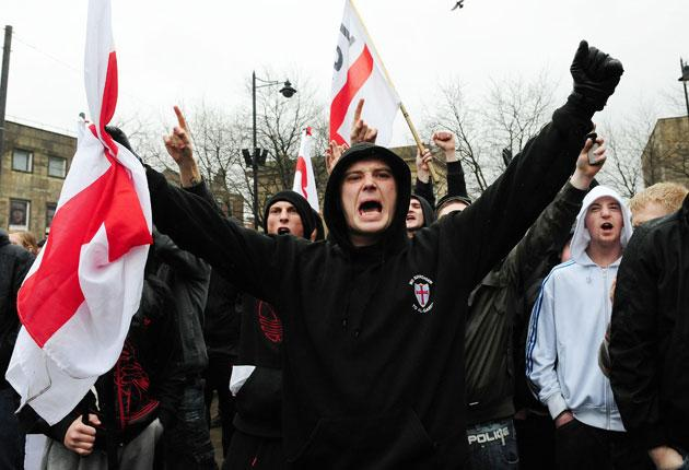 A supporter of the English Defence League
