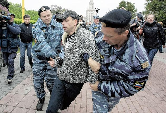 Whenever gay rights marches are held in Moscow, police arrest the participants