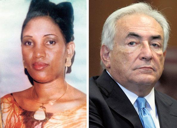 Nafissatou Diallo and her alleged attacker Dominique Strauss-Kahn