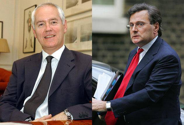 The Director of Public Prosecutions, Lord Macdonald, left, and, right: Lord Goldsmith, the Attorney General