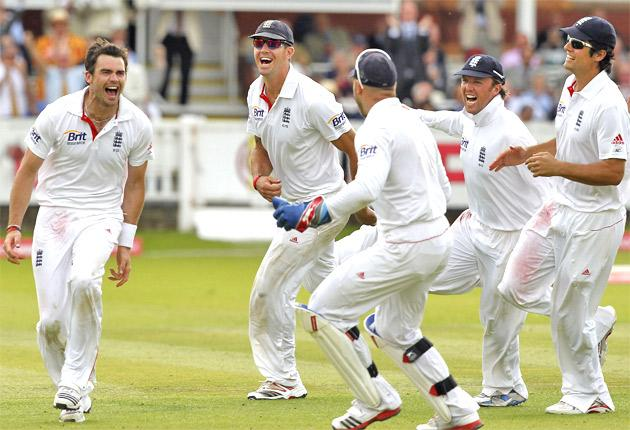 England's development has come about as players such as James Anderson (left) have improved
